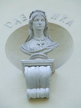 Doubravka of Bohemia - Bust in the Krasinski palace, Ursynów, Warsaw