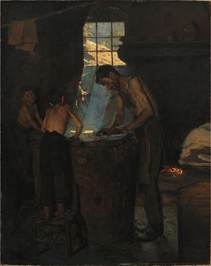 Hatters in an Italian village