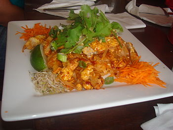Pad Thai at Sarah's restaurant in Toronto, Canada.
