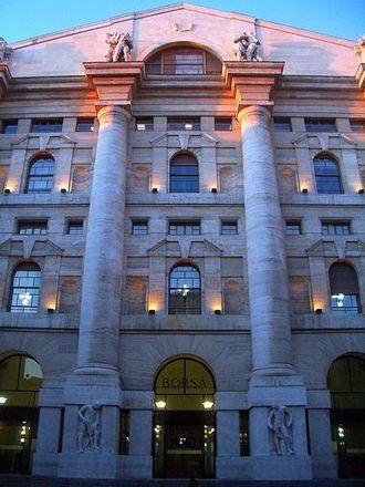 Palazzo Mezzanotte - Facade of Palazzo Mezzanotte