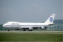 Description de l'image  Pan Am Boeing 747 at Zurich Airport in May 1985.jpg.