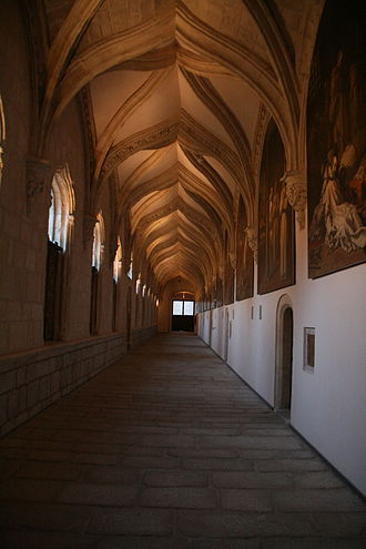 Vincenzo Carducci - The refurbished interior of the cloister of the Chartreuse of el Paular with the paintings of Vicente Carducho.