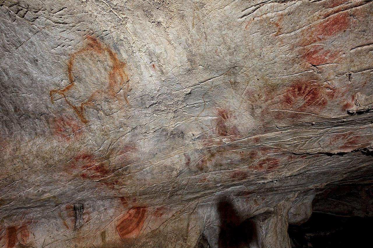 Panell de les mans, cova El Castillo, Puente Viesgo