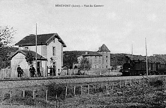 Beaufort, Isère - Beaufort at the beginning of the 20th century