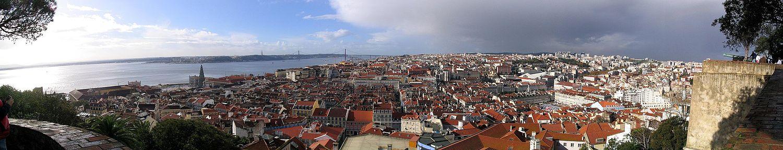 Панорама Лиссабона из замка Святого Георгия