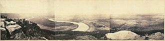 Panoramic photography - View from the top of Lookout Mountain, Tennessee, Albumen prints, February, 1864, by George N. Barnard