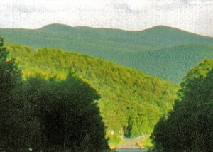 Panther Mountain (New York) - Panther from the west, along Route 28 near Highmount