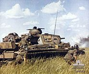 Panzer III with infantry