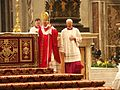 Papst Benedikt XVI., Pfingstmesse im Petersdom, 15. Mai 2005 3.jpg