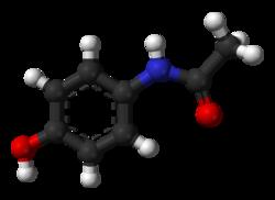 Resistencia Bacteriana de nueva generación. - Página 3 250px-Paracetamol-from-xtal-3D-balls