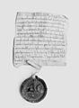 Parchment Document and Seal of Philip of Alsace, Count of Flanders (1168–91) and of Vermondois (1155–91) MET 54698.jpg