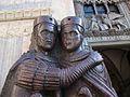 Parella d'estàtues dels Tetrarques de Venècia.JPG