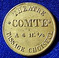 Paris, France, Admission Jeton Token Théâtre Comte, Passage Choiseul, ND (1827 - 1846), obverse.jpg