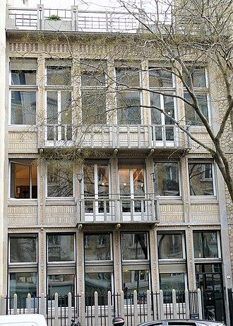 Paris architecture of the Belle Époque - The house of architect Paul Guadet (1913)