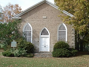 Paris, Ontario - Paris Plains Church, 1845, cobblestone architecture