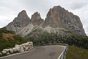 1998 Giro d'Italia - The Passo Sella was the Cima Coppi for the 1998 edition of the Giro.