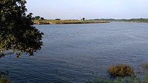 Pattamundai - View of River Brahmani from Nilakanthapur Panchayat In Pattamundai