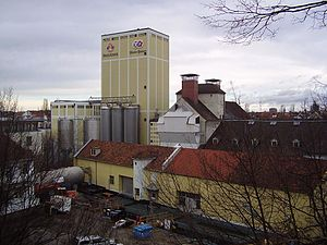 Paulaner Brewery - former industrial areas of the Paulaner brewery in Munich