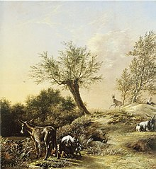 """The Rabbit Warren (""""Spring Landscape with Donkeys and Goats"""")"""