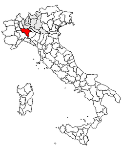 Location of Province of Pavia