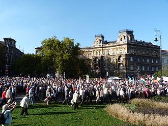 Kodály körönd - Image: Peace March for Hungary 2013.10.23 (36)