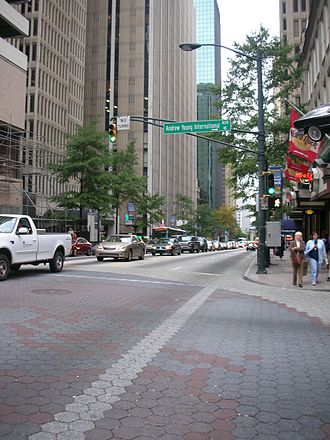 Peachtree Center - Street scene in Peachtree Center