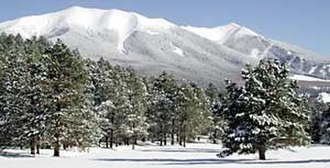 Arizona Snowbowl - Image: Peaks winter