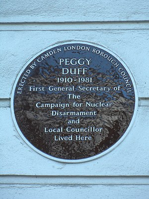 Peggy Duff - Plaque