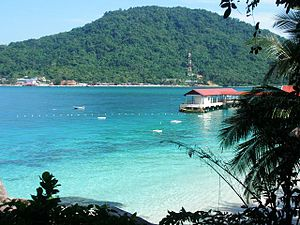 Perhentian Islands - Perhentian Kecil seen from Perhentian Besar