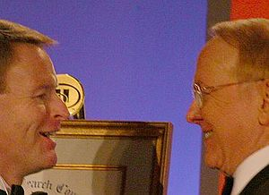Tony Perkins and James Dobson in 2007 in Washi...