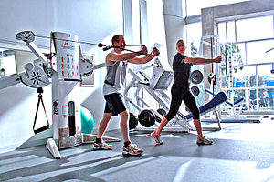 Personal Training at a Gym - Cable Crossover C...