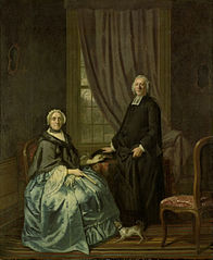 Portrait of Petrus Bliek, Remonstrant Minister in Amsterdam, with his Wife Cornelia Drost