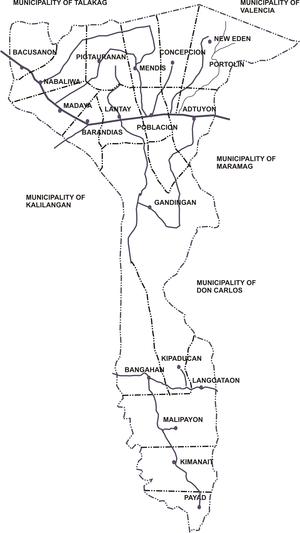 Pangantucan, Bukidnon - Map of Pangantucan