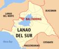 Ph locator lanao del sur balindong.png
