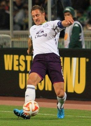 Phil Jagielka - Jagielka playing for Everton in 2014