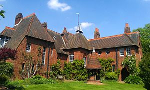 William Morris - Red House in Bexleyheath; it is now owned by The National Trust and open to visitors