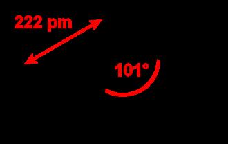 Phosphorus tribromide - Image: Phosphorus tribromide 2D dimensions