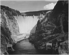 Photograph Looking Down the Colorado River Toward the Boulder Dam, 1941 - NARA - 519846.tif