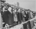 Photograph of President Truman with his daughter Margaret and other dignitaries at the annual Army-Navy football game... - NARA - 200400.tif
