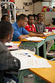 Physiotherapist Saimonah Mokupe teaches a class of community health workers (10713204286).jpg