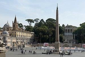 Piazza del Popolo Obelisco Flaminio a Roma