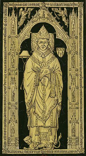 Jean Lemoine - Image: Pierre tombale du cardinal Jean Lemoine (cropped)