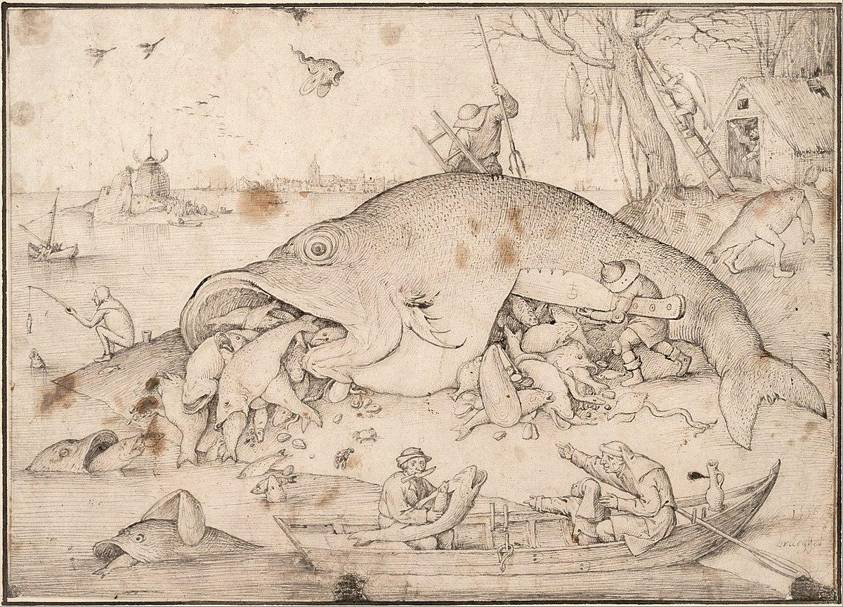 Pieter Bruegel the Elder - Big Fish Eat Little Fish, 1556 - Google Art Project.jpg