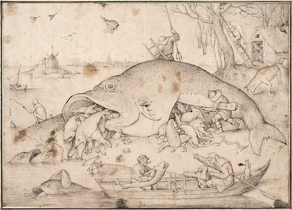 Pieter Bruegel the Elder - Big Fish Eat Little Fish, 1556 - Google Art Project