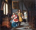 Pieter de Hooch - A lady surprised by her lover.jpg