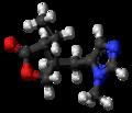 Pilocarpine molecule ball.png