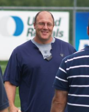 Scott Pioli - Pioli during 2007 Patriots training camp