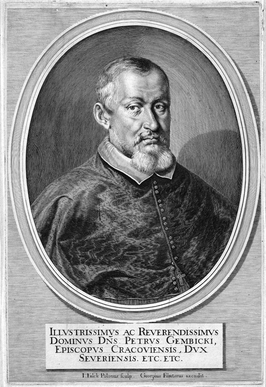 Piotr Gembicki, Bishop of Kraków and Grand Crown Chancellor by Jeremias Falck.png