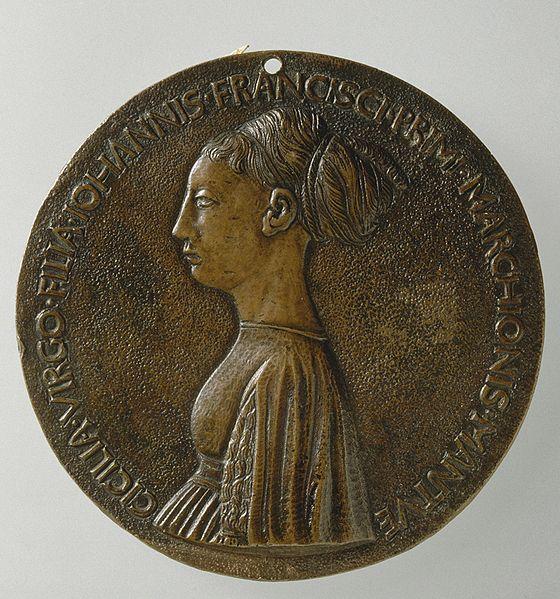File:Pisanello, Cecilia Gonzaga, Medaille.jpg