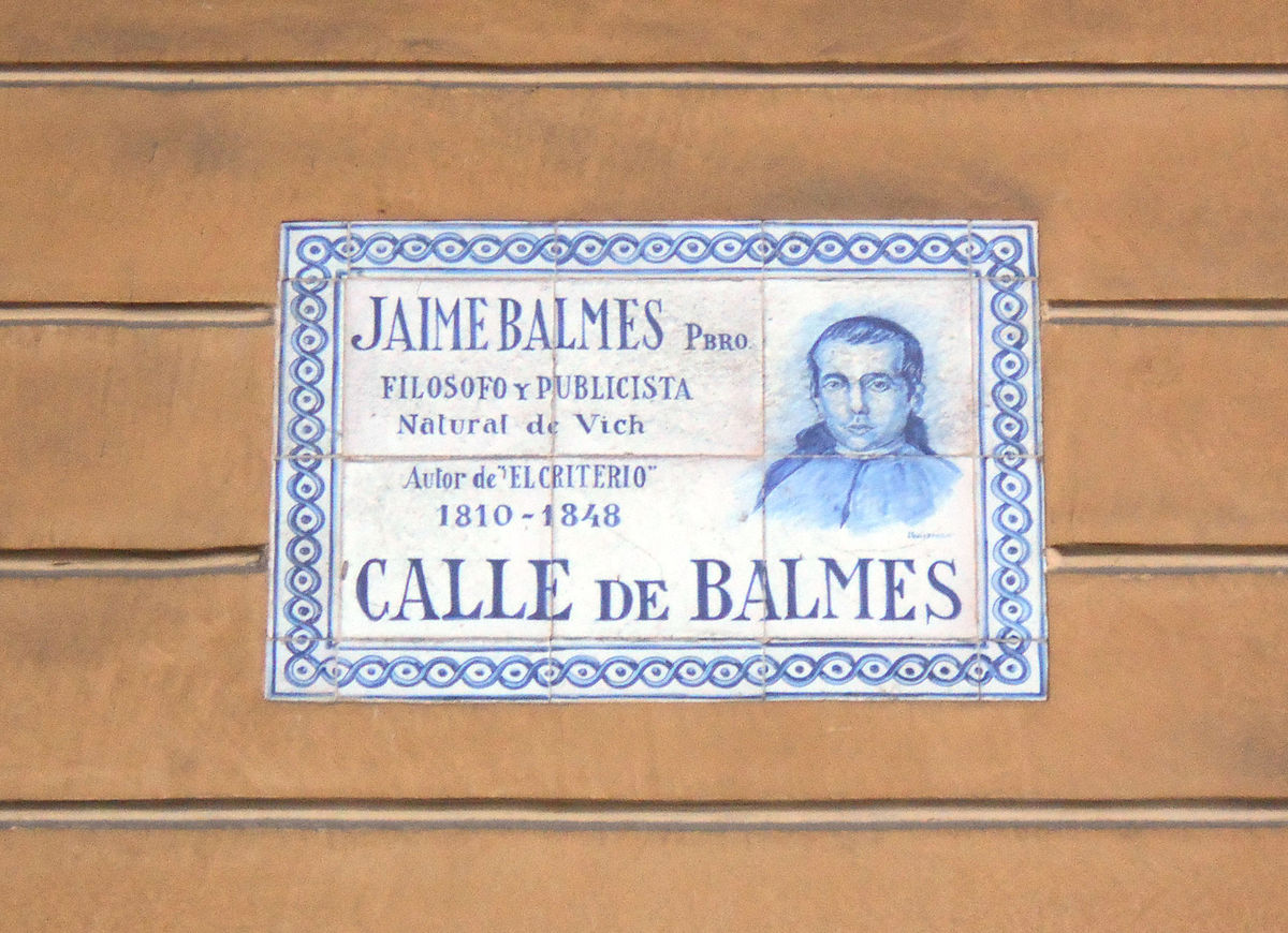 Calle de balmes wikipedia la enciclopedia libre - Placa kennedy barcelona ...